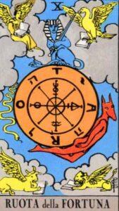 la ruota della fortuna dei tarocchi